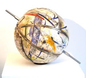 Mappamondo  ceramica raku diametro 30