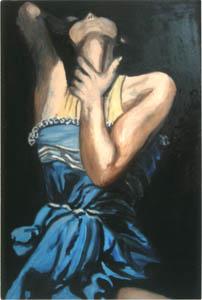 L'attimo - 2012 olio su tela 100 x 80