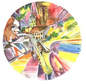 Musica e sinfonia a Monaco - 2012  acquerello