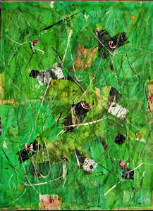 Verde - 2012     tecnica mista 70 x 100