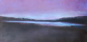 Lago Blu - 2012    pastello su catapaglia  100 X 50