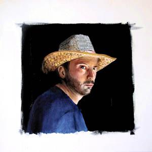 Selfportrait - 2010    olio su tavola 30 x 30