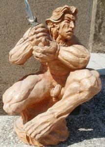 Barbaridad terracotta h cm 45