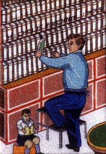 L'archivista - 1992 mosaico 30 x 40