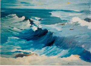 Il danzar dell'onda - 2011   olio su masonite 88 x 119