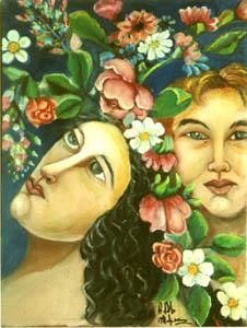 Il ritorno degli angeli - 2009 olio su tela 40 x 30