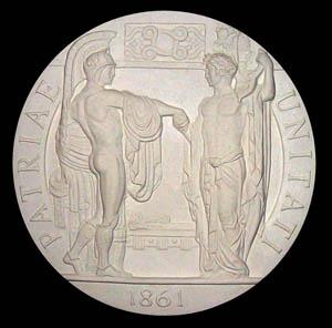 150° Unità d'Italia - 2010 medaglia, modello in gesso, diametro cm 20