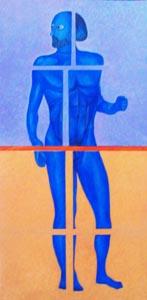 l'Uomo,frantumato -, 2011     50 X 102