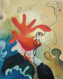 Autoritratto - 1974 olio su tela 40 x 50