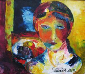 Solitudine - 1993  olio su tela 70 x 60